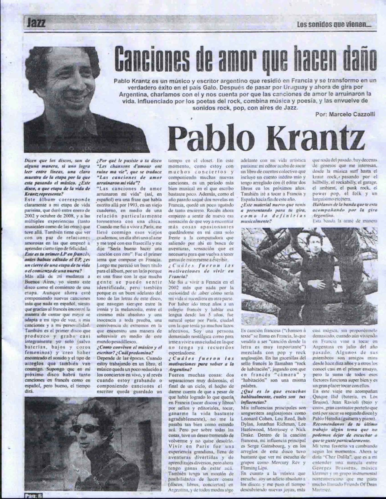 Diario La Republica, Uruguay, 2008