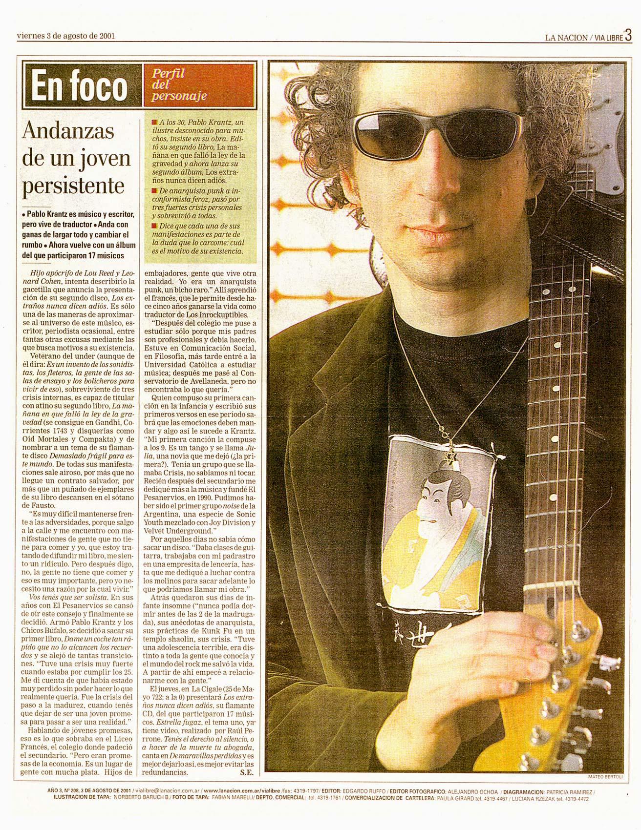 Diario La Nación, Argentina, 2001