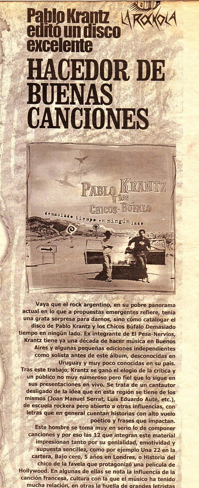 Diario La República, Uruguay, 1999