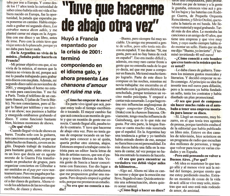 Diario Pagina12, Argentina, 2007 (2)