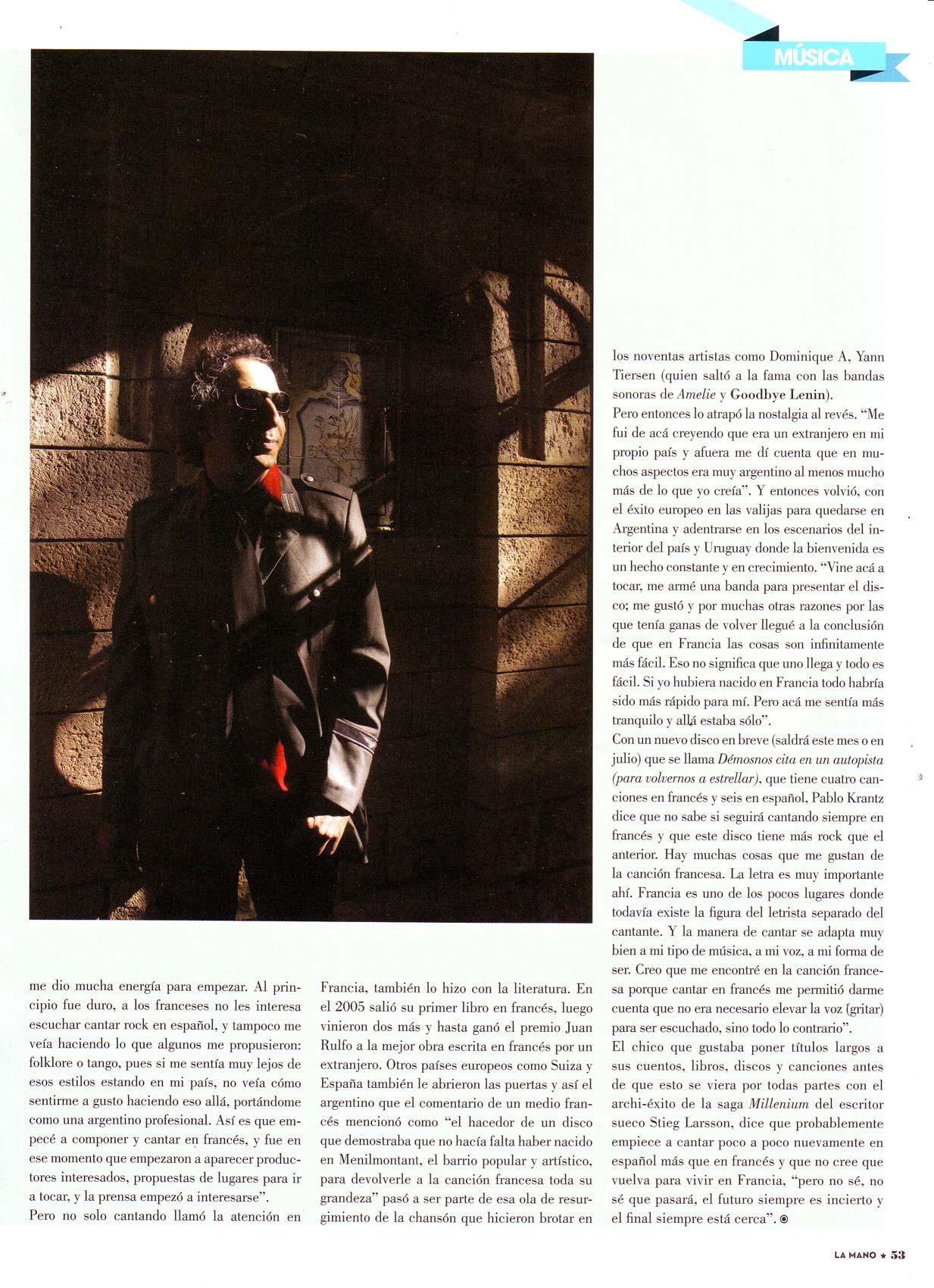 Revista La Mano, Argentina, 2009 (2)