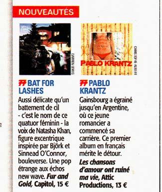 Revista Tele 7 Jours, Francia, 2007