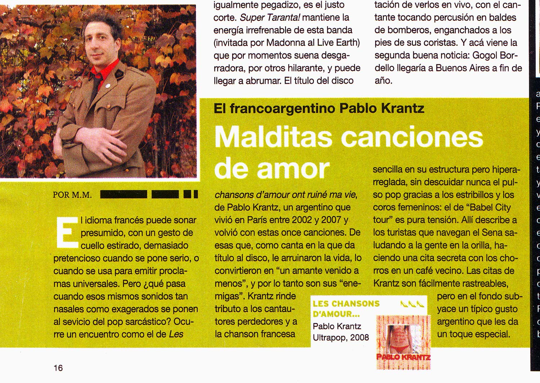 Revista Veintitres, Argentina, 2008