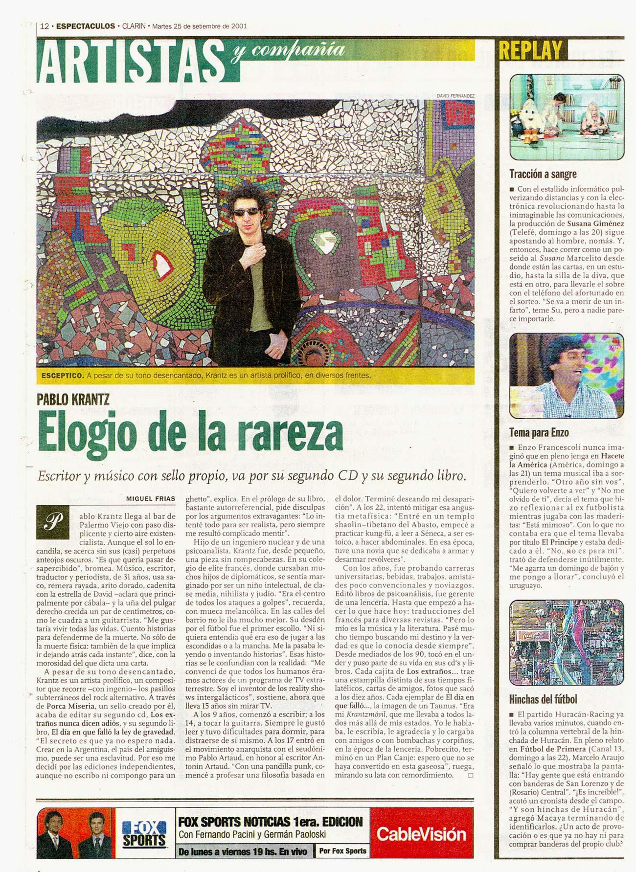 Diario Clarin, Argentina, 2001