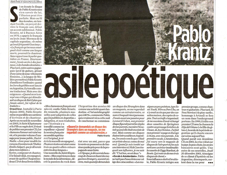 Diario Liberation, Francia, 2007 (2)
