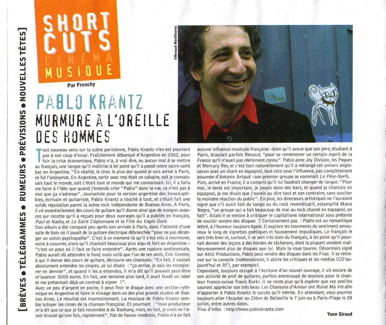 Revista Crossroads, Francia, mayo 2007