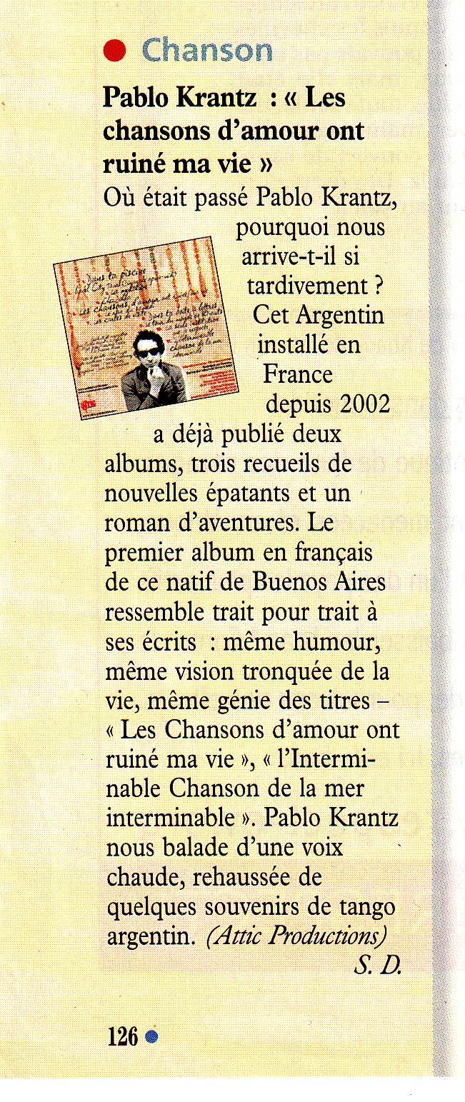 Revista Le Nouvel Observateur, Francia, 2007
