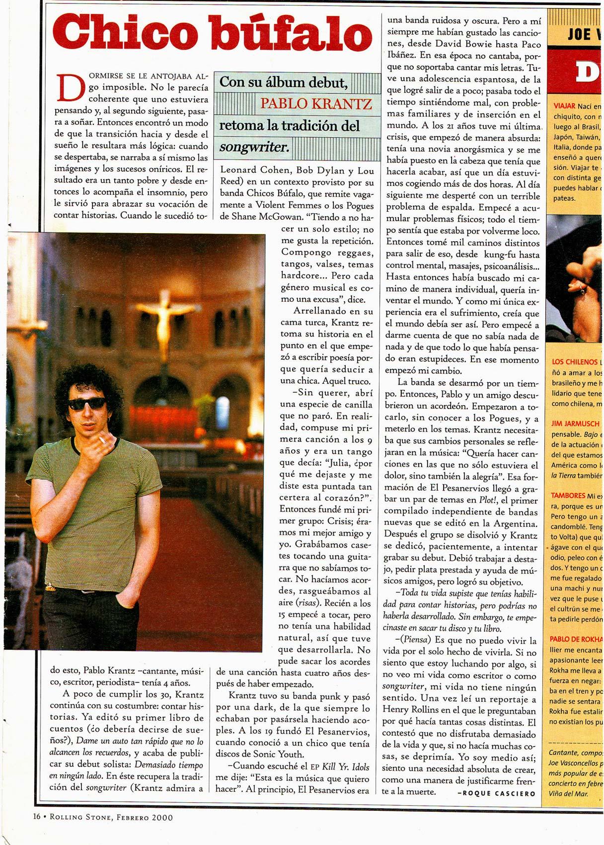Revista Rolling Stone, Argentina, 1999