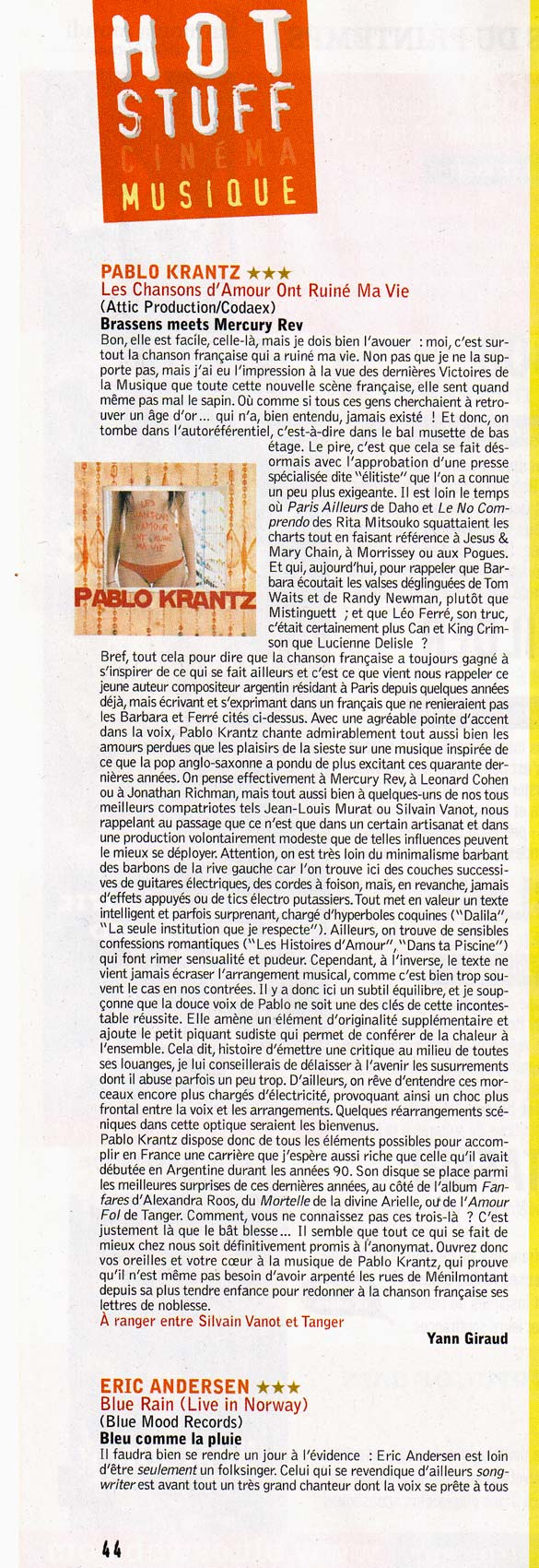 Revista Crossroads Francia abril 2007